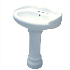 Georgian Wall Mount Pedestal Bathroom Sink