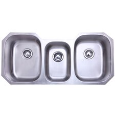 "Denver 21"" x 17.75"" Gourmetier Triple Bowl Undermount Kitchen Sink"