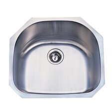 "Manhattan 23.19"" x 21.06"" Gourmetier Stainless Steel Single Bowl Undermount Kitchen Sink"