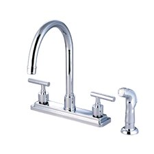 <strong>Kingston Brass</strong> Manhattan Double Handle Kitchen Faucet