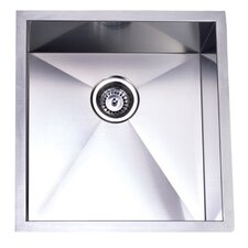 "Towne Square 20.06"" x 19"" Gourmetier Stainless Steel Single Bowl Undermount Kitchen Sink"