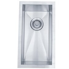 "Towne Square 20"" x 11"" Gourmetier Stainless Steel Single Bowl Undermount Kitchen Sink"