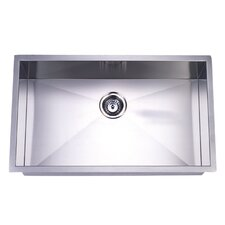 "Towne Square 19"" x 32"" Gourmetier Stainless Steel Single Bowl Undermount Kitchen Sink"