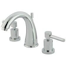 <strong>Kingston Brass</strong> Concord Double Handle Widespread Bathroom Faucet with Brass Pop-Up Drain