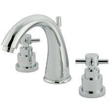 Elinvar Double Handle Widespread Bathroom Faucet with Brass Pop-Up Drain