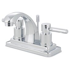 <strong>Kingston Brass</strong> Concord Double Handle Centerset Bathroom Faucet with Brass Pop-Up Drain