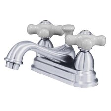 <strong>Kingston Brass</strong> Restoration Double Handle Centerset Bathroom Sink Faucet with Brass Pop-up