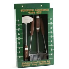 Football 3 Piece BBQ Tools Set
