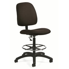 Total Office Goal Armless Drafting Pneumatic Task Chair Fire Rated