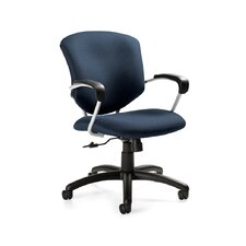 <strong>Global Total Office</strong> Supra Mid-Back Pneumatic Tilter Office Chair with Arms