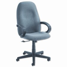 Enterprise High-Back Pneumatic Office Chair with Fixed Height Loop Arms