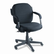 Low-Back Polypropylene Swivel / Tilt Office Chair with Arms