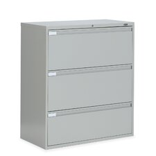 "<strong>Global Total Office</strong> 9300 Series 36"" W Three-Drawer Lateral File"