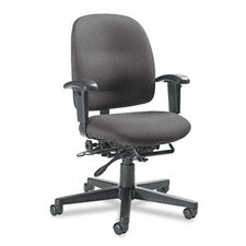 Granada Low-Back Pneumatic Multi Office Chair with Arms and Plain Back