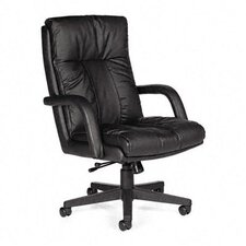 <strong>Global Total Office</strong> Series Leather High-Back Swivel / Tilt Chair with Arms