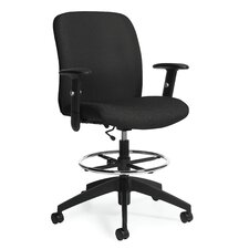 <strong>Global Total Office</strong> Height Adjustable Drafting Stool with Arms