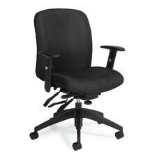 <strong>Global Total Office</strong> Truform Mid-Back Multi Office Chair with Arms