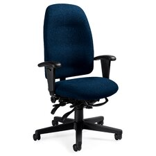 <strong>Global Total Office</strong> High-Back Pneumatic Multi-Tilter Office Chair with T-Arms