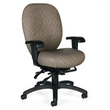 <strong>Global Total Office</strong> High-Back Multi-Tilter Office Chair with Arms