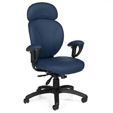 High-Back Leather Synchro-Tilter Office Chair