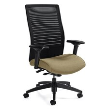 <strong>Global Total Office</strong> High Back Mesh Chair with Weight Sensing Synchro-Tilter