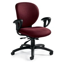 <strong>Global Total Office</strong> Low-Back Multi-Tilter Office Chair with Arms