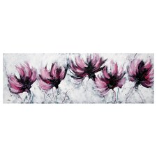Mauve Blooms by Cris Painting Print on Canvas