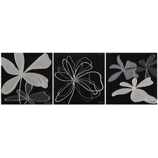 Grayscale Garden Canvas Wall Art (Set of 3)