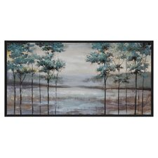 Hazy Fields by Dominic Lecavalier Framed Painting Print
