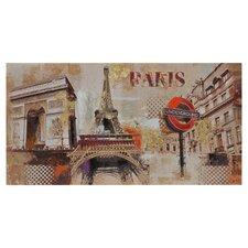 Paris Underground by Giovanni Russo Graphic Art on Canvas