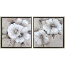 Fleur by Giovanni Russo 2 Piece Framed Painting Print on Canvas (Set of 2)