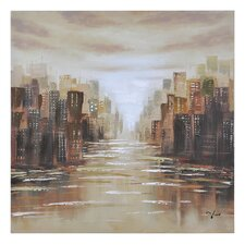 Dusk Reflections by Giovanni Russo Painting Print on Canvas