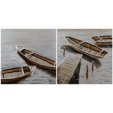 <strong>Ren-Wil</strong> Tranquility Canvas Wall Art (Set of 2)