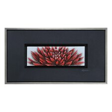 Crimson Close Up by Dominic Lecavalier Framed Painting Print