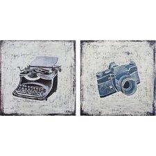 Gadgets by Ksenia Sizaya 2 Piece Original Painting on Canvas Set