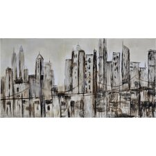 New Dust City by Giovanni Russo Original Painting on Canvas