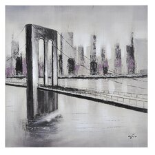 City Links I by Giovanni Russo Painting Print on Canvas