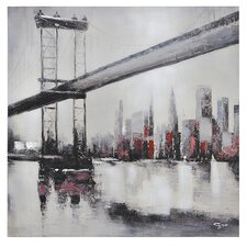 City Links II by Giovanni Russo Painting Print on Canvas