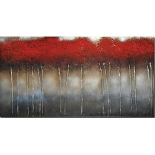 Crimson Forest by St. Germain Original Painting on Canvas