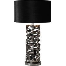 "Molded 28"" H Table Lamp with Drum Shade"