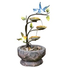 Resin-Stone Love Birds Branch Fountain