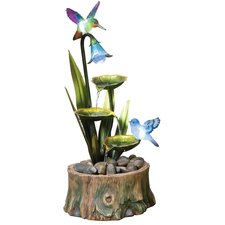 Resin-Stone Bird Pond Fountain