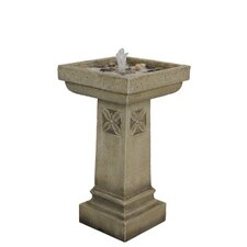 Resin-Stone Vintage Bird Bath Fountain