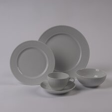 Plisse Rimless Bowl 5 Piece Dinnerware Collection