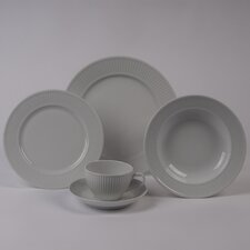 Plisse 5 PC Dinnerware Set With Rimmed Bowl