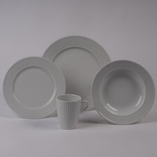 Plisse Rimmed Bowl 4 Piece Dinnerware Collection