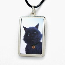 Toto White Bronze Dog Tag Pendant Necklace