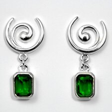 Emerald City Swirl Dangle Earrings
