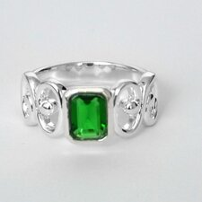 Emerald City White Bronze Filigree Ring