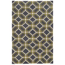 Matrix Grey Geometric Rug